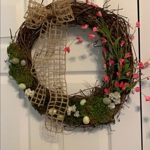 Handmade spring flower wreath